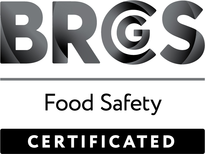 BRC food safety certified logo