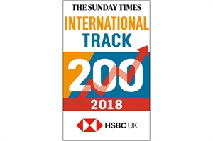 Cambridge Commodities Ranked 92nd in The Sunday Times HSBC International Track 200